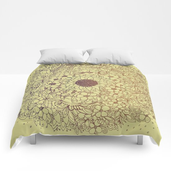 Flower circle Comforters