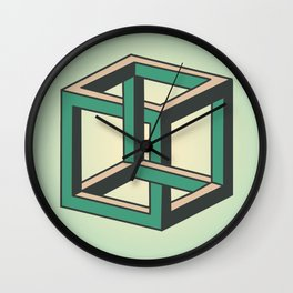 Impossible Cube Wall Clock