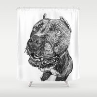 hercules Shower Curtains featuring hercules 1 by Jenn Steffey