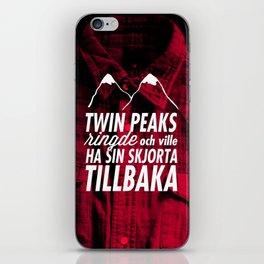 Twin Peaks Ringde iPhone Skin