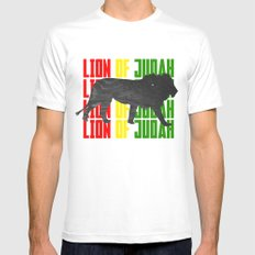 Lion (The Living Things Series) *Stanley Edition* MEDIUM White Mens Fitted Tee