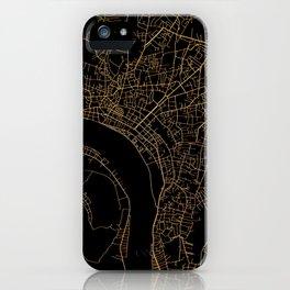 Vientiane map, Laos iPhone Case