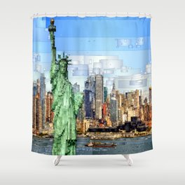 City of New York - Statue of Liberty Shower Curtain