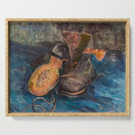 Vincent van Gogh - A Pair of Boots, 1887 Serving Tray
