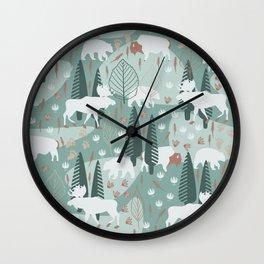 Yellowstone (Moss) Wall Clock