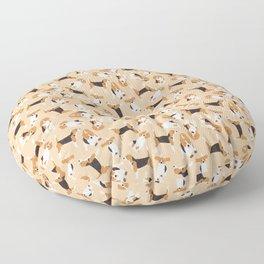beagle scatter peach Floor Pillow