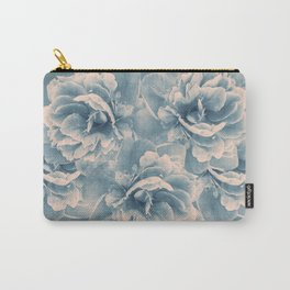 Blush Blue Peony Flower Bouquet #1 #floral #decor #art #society6 Carry-All Pouch
