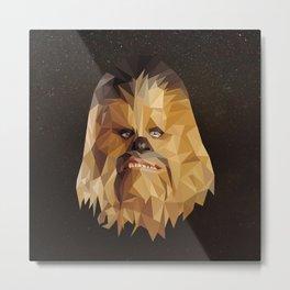 Low Poly Chewbacca Metal Print