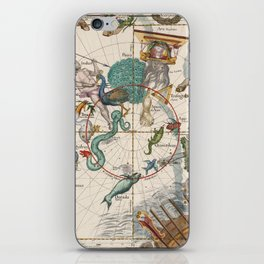 Old Constellation Map Year 1693 iPhone Skin