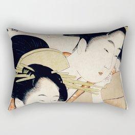 The Two Girls Rectangular Pillow