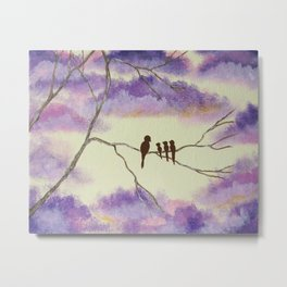A Mothers Blessings, Birds in Tree Metal Print