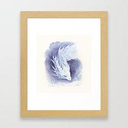 Snowy dragon Framed Art Print