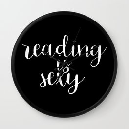Reading is Sexy (Inverted) Wall Clock