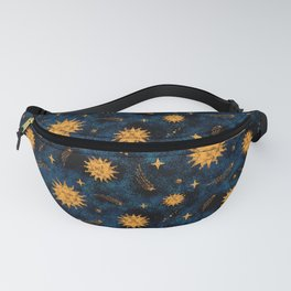 Vintage Sun and Stars Pattern Fanny Pack