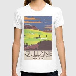 Gullane,East Lothian, Scotland Golf poster. T-shirt