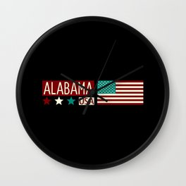 Patriotic Colors: Alabama Wall Clock
