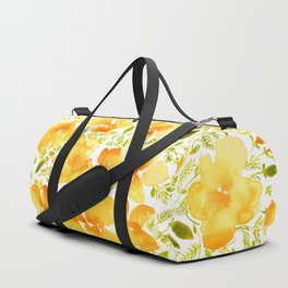 Watercolor California poppies (Quad set, #4) Duffle Bag