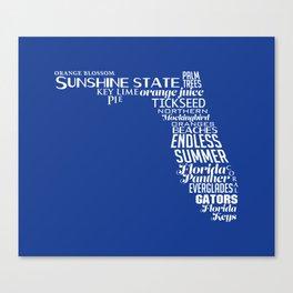 Florida State Love - Blue Canvas Print