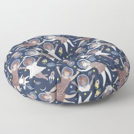 Girls in space Floor Pillow