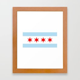 Chicago Flag Framed Art Print