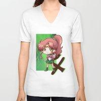 sailor jupiter V-neck T-shirts featuring Jupiter by Lady Cibia