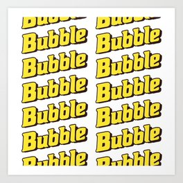 Bubble Bubble Leggings - Yellow Art Print