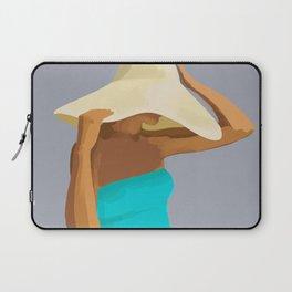 At the Beach: Aqua suit Laptop Sleeve