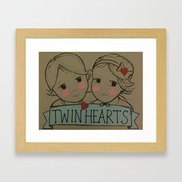 Twin Hearts Framed Art Print