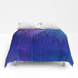 OCEAN SIDE - Abstract Digital Image Texture Glitch Art Comforters