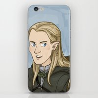 legolas iPhone & iPod Skins featuring Legolas by quietsnooze