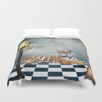 relax Duvet Covers featuring Relax by haroulita