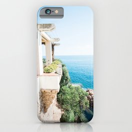 Travel photography print - Blanes Spain - Sea and rocks iPhone Case