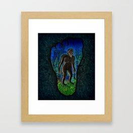 Big Foot Woodsman Framed Art Print