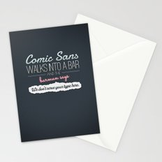 Poor Comic Sans Stationery Cards