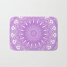 Beautiful Purple Violet Mandala Design Pattern Minimal Minimalistic Bath Mat