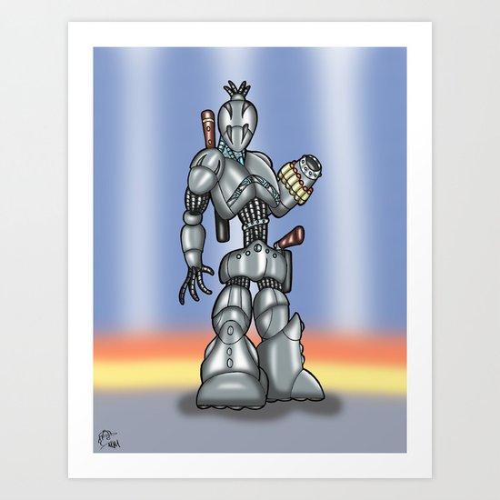 Robot Series - Assassin Model Art Print
