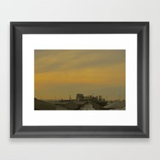 Baltimore Harbor-Dusk Framed Art Print