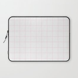 White and Pink Grid Laptop Sleeve