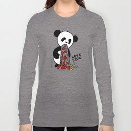 LOVESICK PANDA - grey Long Sleeve T-shirt