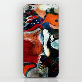 Orange Abstract Art / Surrealist Painting iPhone Skin