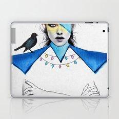 Blue Girl & Black Bird Laptop & iPad Skin