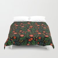 russian Duvet Covers featuring Russian flowers by A.Vogler