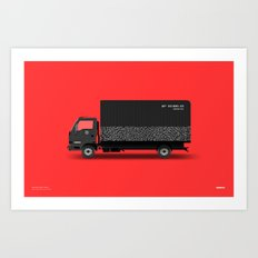 Sneaker Box Truck / BX1985-23 Art Print