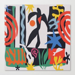 inspired to Matisse (black) Canvas Print
