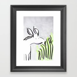 Just a snack Framed Art Print