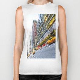 New York Street Scene Biker Tank