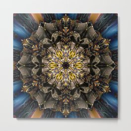 Cairn - Mandala of aristocracy C of Alphabet collection Metal Print