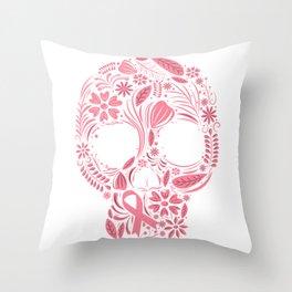 Skull Awareness Throw Pillow