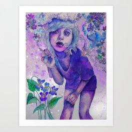 purple indigo violet Art Print
