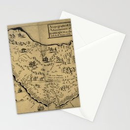 Vintage Barbados Pictorial Map (1657) Stationery Cards